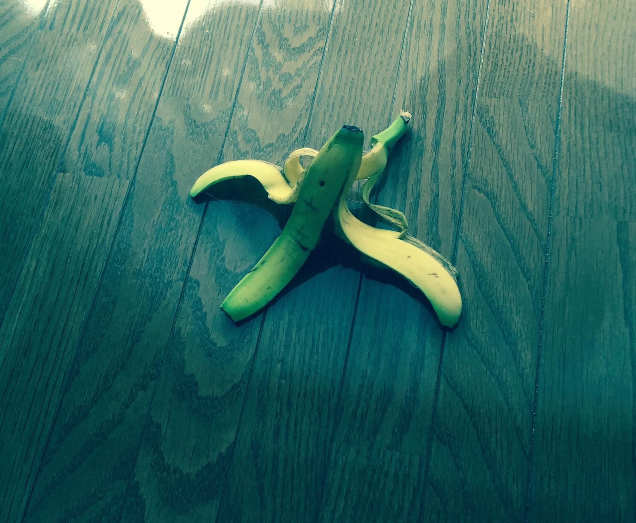 バナナの緑皮